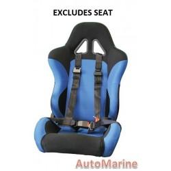 Racing Car Seat / Safety Belt - 3 Point - Black