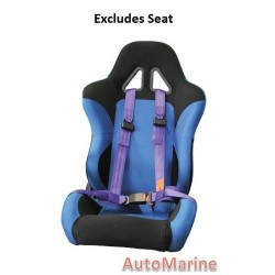 Racing Car Seat / Safety Belt - 3 Point - Blue