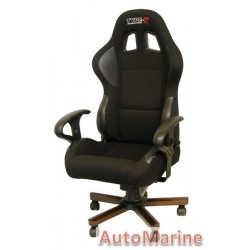 Racing Office Chair with Arm Rests - Black