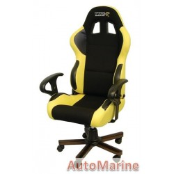 Racing Office Chair with Arm Rests - Yellow