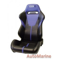 Reclining Racing Car Seat PVC - Blue / Black