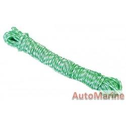 Ski Rope - Green/White - 5mm x 10m