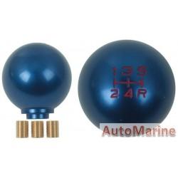 Aluminium Gear Knob - Blue - Thread Type