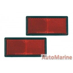 Red Reflector - 87 x 41mm - Set of 2