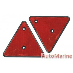 Red Triangle Reflector - 150mm - Set of 2