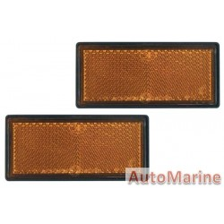 Rectangle Amber Reflector - 87 x 41mm - Set of 2