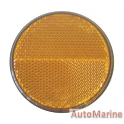Roand Amber Reflector - 65mm - Bolt + Nut