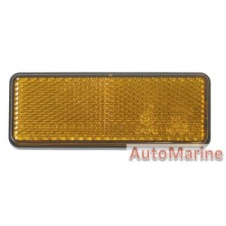 Rectangle Amber Reflector - 95 x 38mm