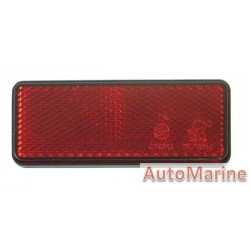 Rectangle Red Reflector - 95 x 38mm