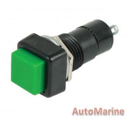Button Switch - Square - Green