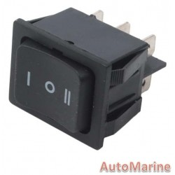 Rocker Switch - [1 - 0 - 2] with Return
