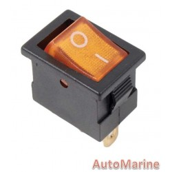 Rocker Switch - Amber - Mini