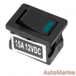 Rocker Switch - Blue - Mini