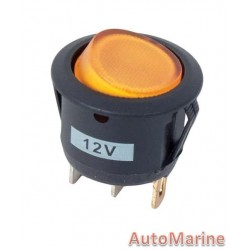 Rocker Switch - Amber - Round