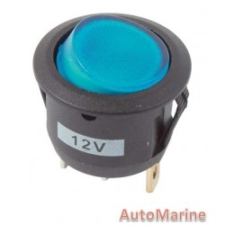 Rocker Switch - Blue - Round