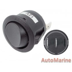 Rocker Switch - Black - Round Mini