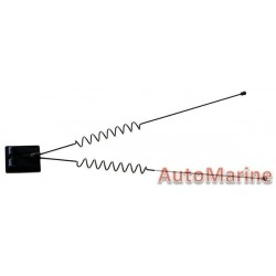 Imitation Aerial with 2 Masts - Black