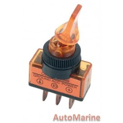 Toggle Switch - Duckbill - On / Off - Amber