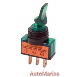 Toggle Switch - Duckbill - On / Off - Green