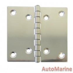 Butt Hinge - 316 Stainless Steel - 99mm x 98mm