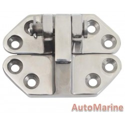 Canopy Fitting Hatch Hinge - 75mm x 58mm - Stainless Steel