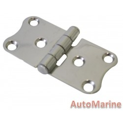 Cuddy Hinge - 76mm x 38mm - Stainless Steel