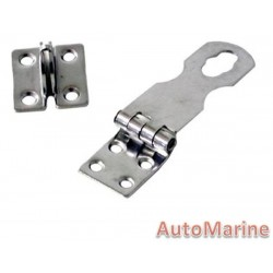 Hasp and Staple - 102mm x 30mm - Stainless Steel