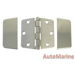 Door Hinge - 74mm x 74mm - Stainless Steel