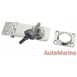 Hasp and Staple - 80mm x 30mm - Stainless Steel