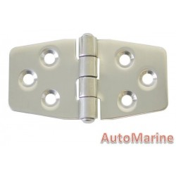 Locker Hinge - 78mm x 40mm - Stainless Steel