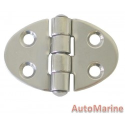 Round Hinge - 51mm x 35mm - Stainless Steel