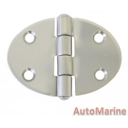 Round Hinge - 67mm x 48mm - Stainless Steel