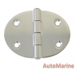Round Hinge - 78mm x 56mm - Stainless Steel