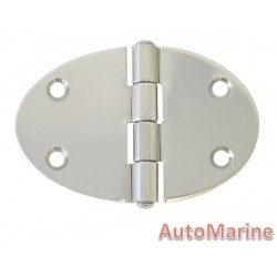 Round Hinge - 84mm x 56mm - Stainless Steel