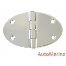 Round Hinge - 90mm x 56mm - Stainless Steel