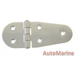 Round Side Hinge - 108mm x 40mm - 316 Stainless Steel
