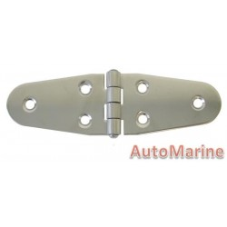 Round Side Hinge - 140mm x 40mm - 316 Stainless Steel