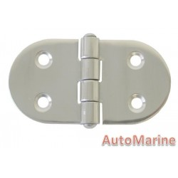 Round Side Hinge - 74mm x 40mm - 316 Stainless Steel