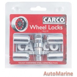 Locking Wheel Nut Set [19/21mm x 14mm x 1.5mm]
