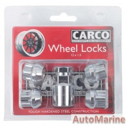 Locking Wheel Nut Set [19/21mm x 12mm x 1.5mm]
