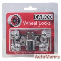 Locking Wheel Nut Set [19/21mm x 12mm x 1.25mm]