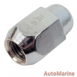 Capped End Chrome Wheel Nut Set [21mm x 12mm x 1.5mm]