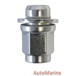 Chrome Countersunk Wheel Nut [21mm x 12mm x 1.25mm]