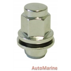 Chrome Countersunk Wheel Nut [21mm x 12mm x 1.5mm]