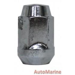 Capped End Chrome Wheel Nut [19mm x 12mm x 1.25mm]