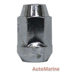 Capped End Chrome Wheel Nut [19mm x 12mm x 1.5mm]