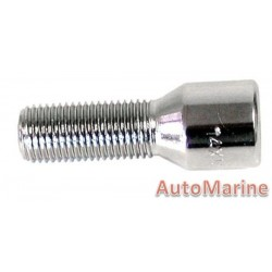 Chrome Allen Key Wheel Bolt [30mm x 12mm x 1.25mm]