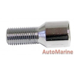 Chrome Allen Key Wheel Bolt [28mm x 12mm x 1.25mm]