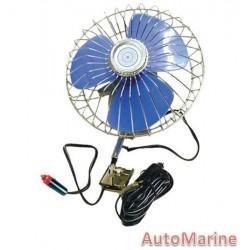 Oscillating 6 Inch Diameter Fan - 12 Volt