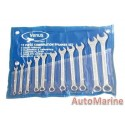 11 Piece Spanner Set (6mm to 19mm)
